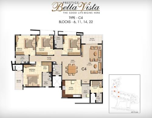 Prestige Bella Vista, Porur - 3BHK - C4