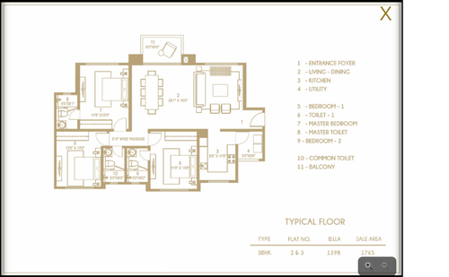 Hiranandani   Anchorage, Egattur,OMR - 3BHK - Type 2 & 3, 3 BHK