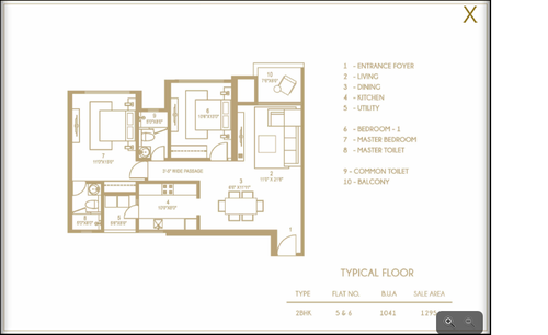 Hiranandani   Anchorage, Egattur,OMR - 2BHK - Type 5 & 6, 2 BHK